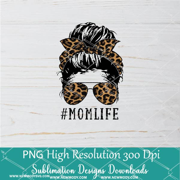 Leopard Mom Life Kid Life Baby Life PNG Sublimation Downloads | Matching Family life | Mommy and Me | Mother and Daughters