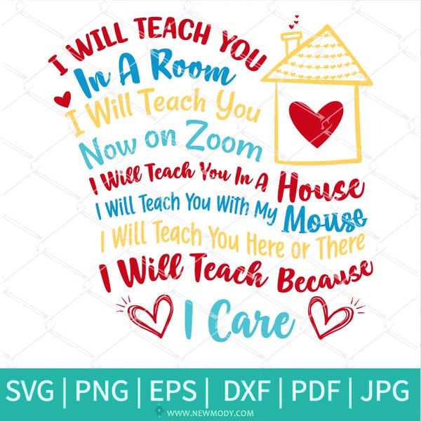 I Will Teach You In A Room I Will Teach You On Zoom Svg Dr Seuss Svg