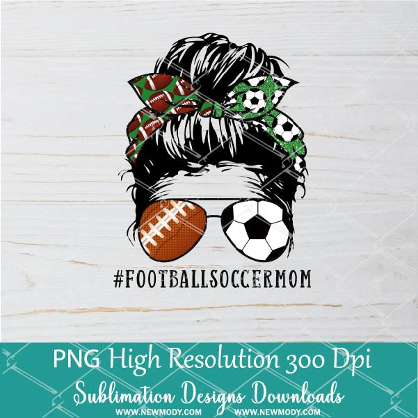 Football Soccer Mom PNG sublimation downloads - Soccer Football Mom Life PNG