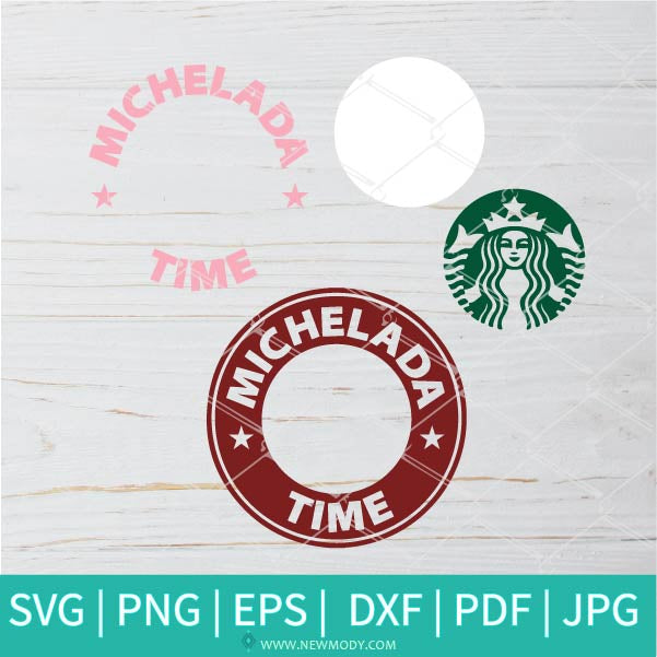 Michelada Time SVG - Flower Monogram SVG - Frame SVG Monogram circle SVG-Strabucks  vector