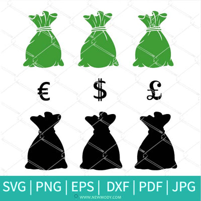 Sitting Fashion Girl With Money Bag Bundle SVG - Rich Girl SVG - Saint Patrick's Day SVG