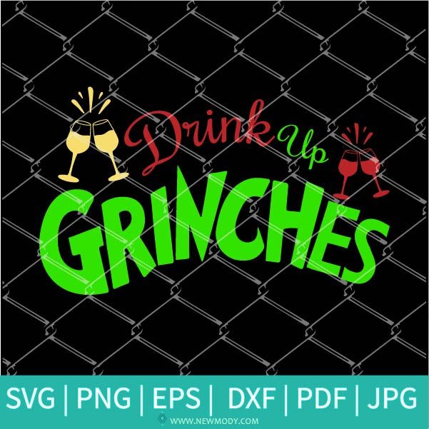 Drink Up Grinches Keychain