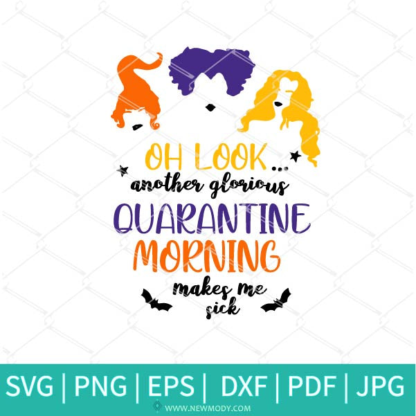 Hocus Pocus Quarantine SVG - A Bunch Of Hocus Pocus SVG - Colored hocus pocus SVG
