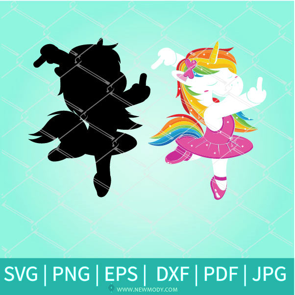 Funny Unicorn SVG - Unicorn Middle Finger SVG