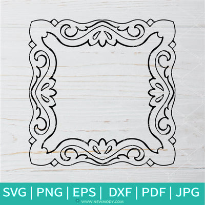 Picture Flower Frame  SVG -Ornament Border SVG