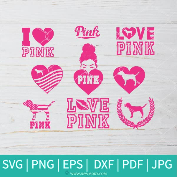 Pink Bundle SVG - Love Pink SVG - Pink Nation SVG - Bundle SVG