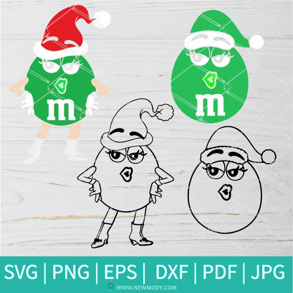 Green m and m Character Svg - Merry Christmas m&ms - Christmas Green m and m Face Svg