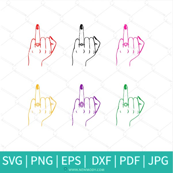 Wedding Finger Bundle SVG - Girlfriend Fiancée SVG - Engagement SVG - Wedding  SVG