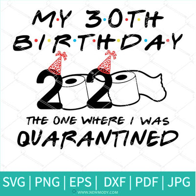 My 30th Birthday 2020 The One Where I was Quarantined SVG - Birthday Quarantine Svg