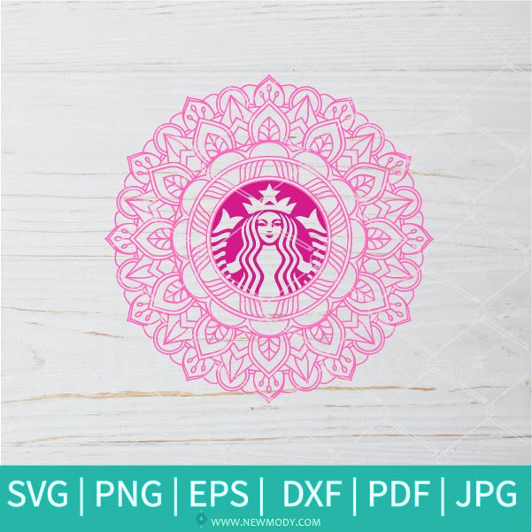 Mandala Strabucks SVG - Flower Monogram SVG - Frame SVG Monogram circle SVG-Strabucks  vector