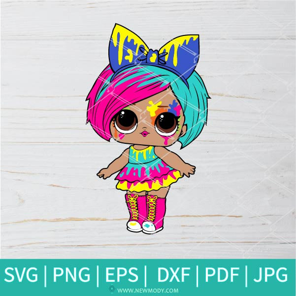 Lol Splatters SVG - Lol Surprise Dolls SVG - Lol Doll SVG