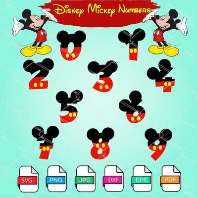 Birthday Mickey Numbers SVG - Birthday Boy SVG Newmody