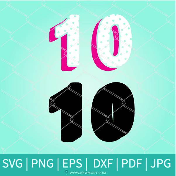 Lol Doll Birthday Numbers SVG - Polka Dots Numbers SVG