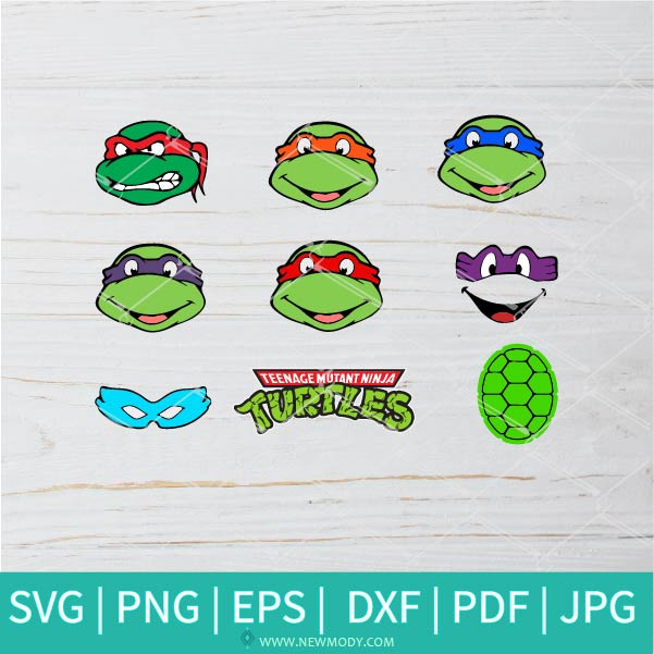 Ninja Turtles Bundle SVG - Ninja Turtles  SVG - Turtles SVG - Face Mask SVG