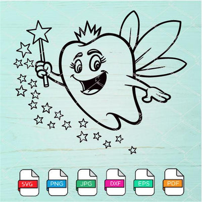 Tooth Fairy SVG - Tooth Fairy Clipart Newmody