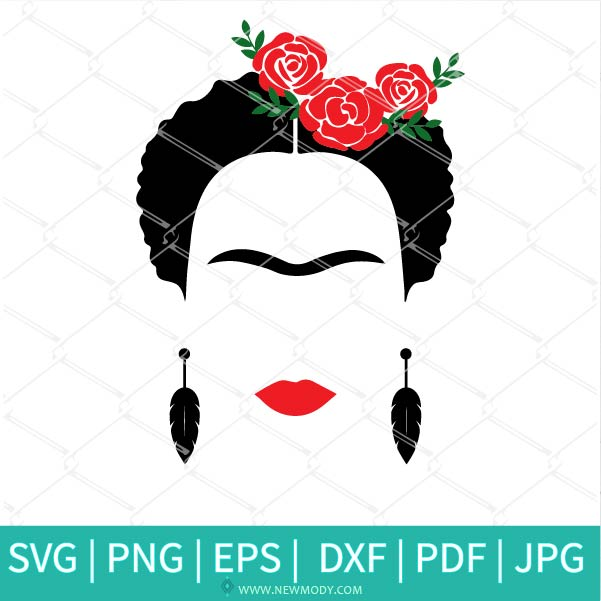 Frida Kahlo SVG - Frida Kahlo Clipart