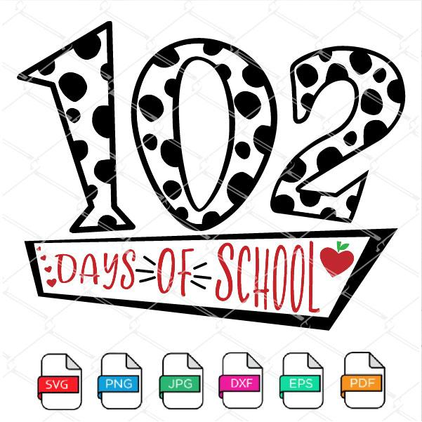 102 days of school SVG