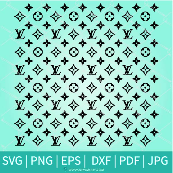 Louis Vuitton Pattern SVG - Colorful Louis Vuitton Pattern Vector- Louis Vuitton Pattern PNG