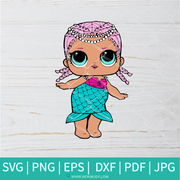 Merbaby SVG - Lol Surprise Dolls SVG - Lol Doll SVG