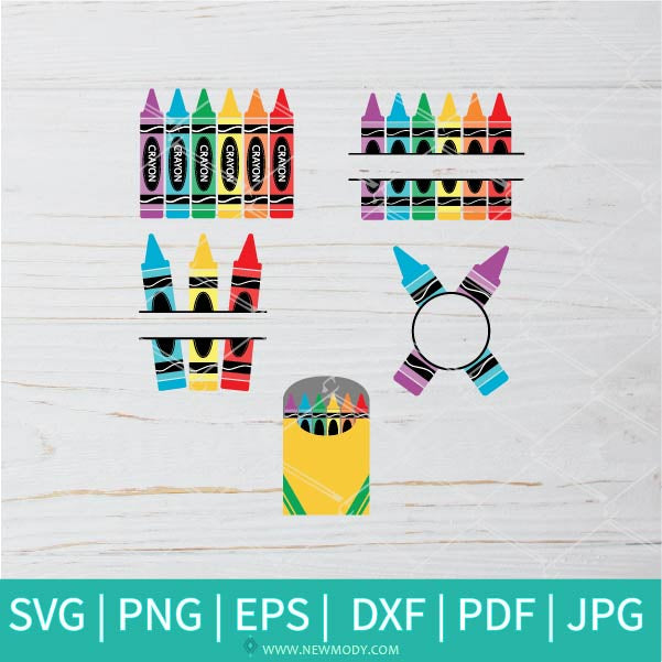 Crayon Bundle SVG - Crayon Svg - Crayon Wrapper Svg - Coloring SVG- Crayola Svg