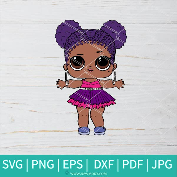 Purple Queen SVG - Lol Surprise Dolls SVG - Lol Doll SVG