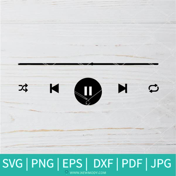 Music Player Buttons SVG - Music svg - Music Buttons SVG