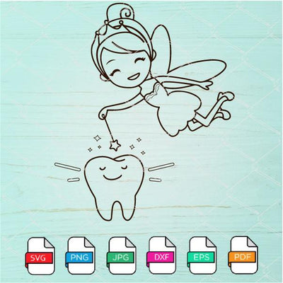 Tooth Fairy Svg  - Tooth SVG - Tooth Clipart Newmody