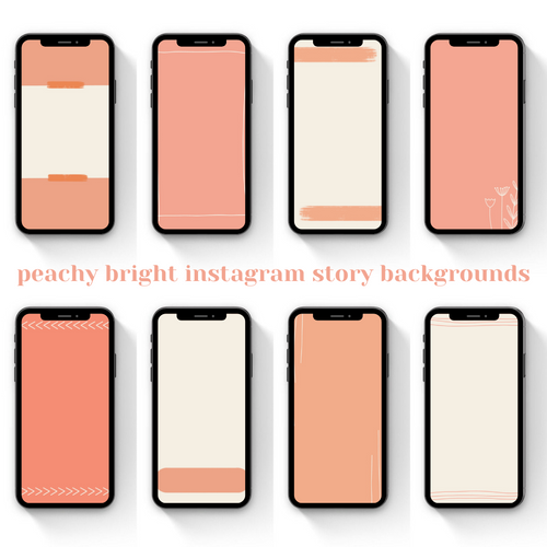 Peachy Bright Instagram Story Templates and Backgrounds