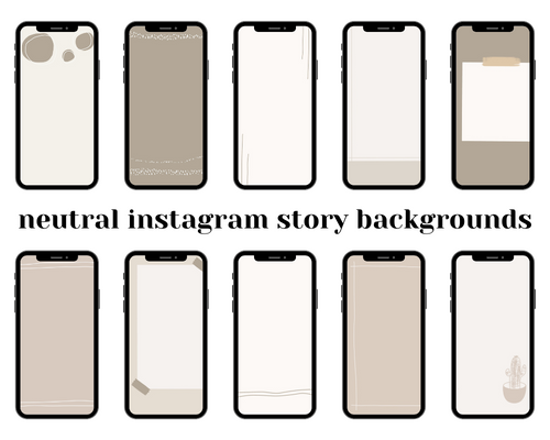 Neutral Boho Style Instagram Story Backgrounds