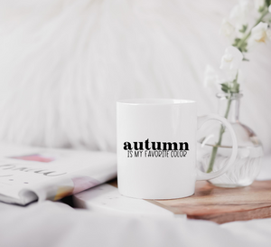 Autumn Is My Favorite Color Hand Lettered SVG File