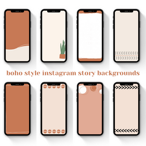 Boho Aesthetic Instagram Story Templates and Backgrounds