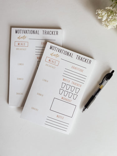 Motivational Tracker Notepad