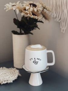 It's A New Day Matte White Coffee Mug