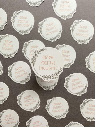 Grow Positive Thoughts Sticker