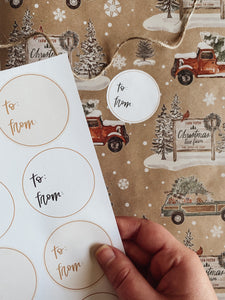 circle gift tags for christmas