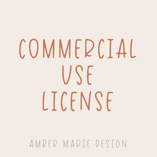 Commercial Use License for SVG Cut File
