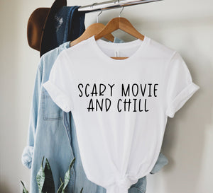 Scary Movie and Chill | Halloween SVG