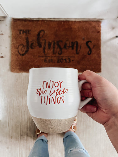 Enjoy the Little Things Ceramic Mug