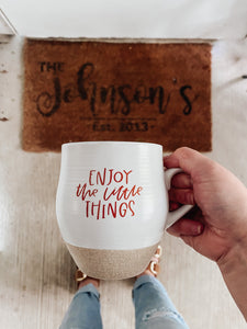 Enjoy the Little Things White Ceramic Mug