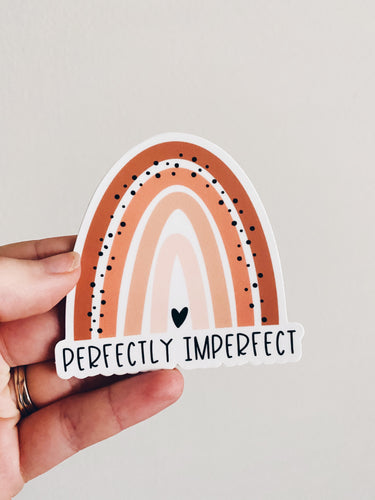 Perfectly Imperfect Boho Rainbow Sticker