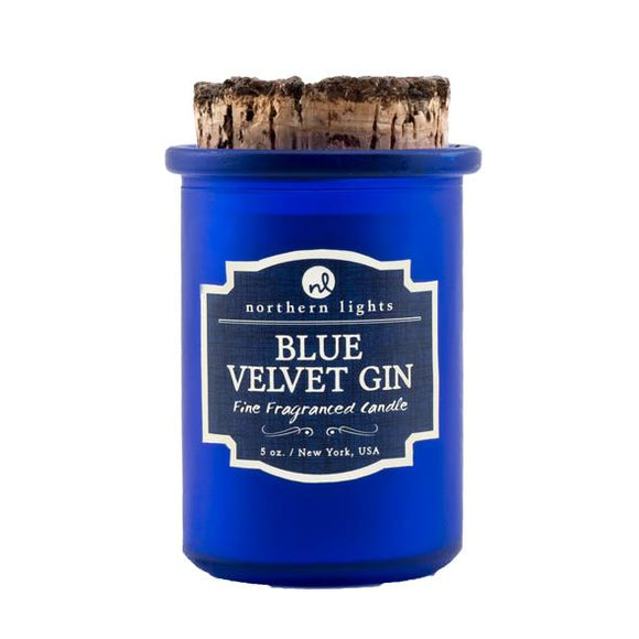 Blue Velvet Gin Spirit Jar Candles