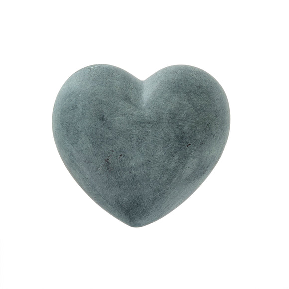 Soapstone Charcoal Heart