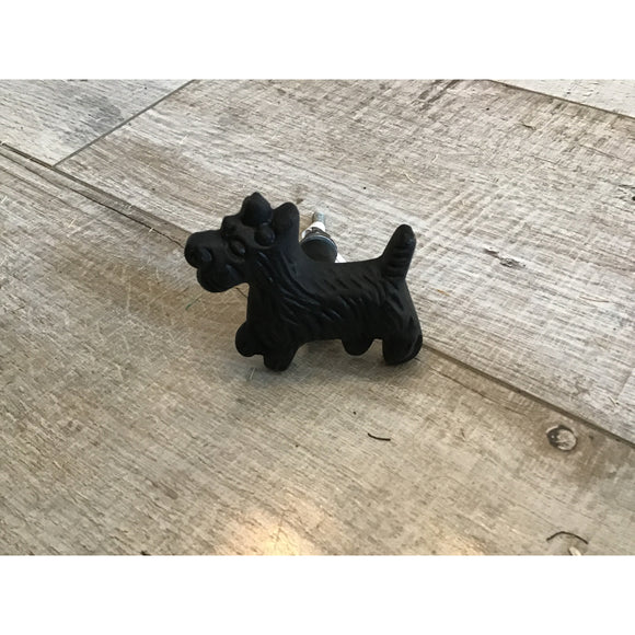 Cast Iron Dog Knob