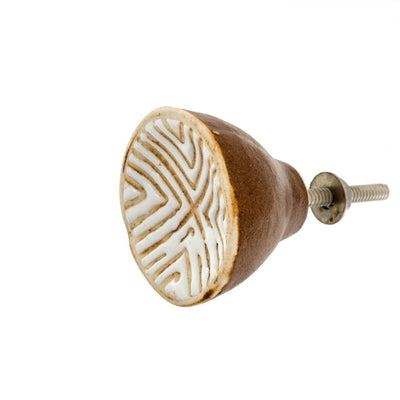 Ceramic Chevron Knob