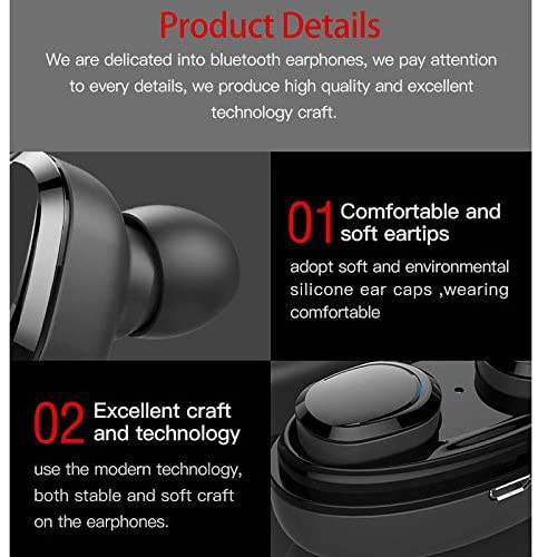 True Wireless Stereo Bluetooth Headset Headphones V4.1 Noise Cancelling In Ear Earphones with Mic and Charging Box