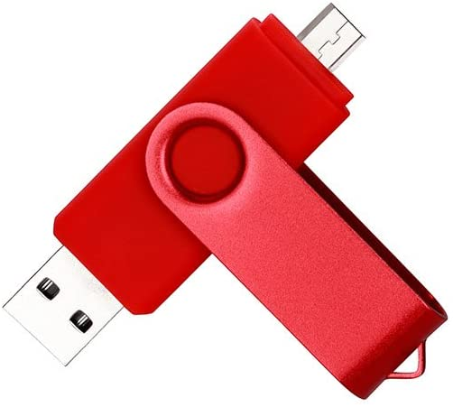 DAMAX-A 32GB USB OTG Dual Port Usb and Micro Usb Memory Stick Swivel Flash Drive(Red)