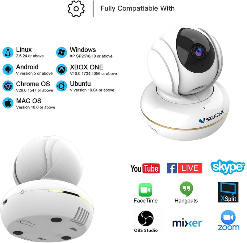 Vstarcam Cloud Intelligent AI Humanoid Tracking Detection CU2 1080P HD USD PC IP Camera
