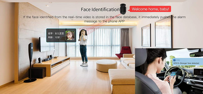 Vstarcam AF81 1080P HD Intelligent AI PT IP Camera Humanoid Tracking Detection Identification Monitor