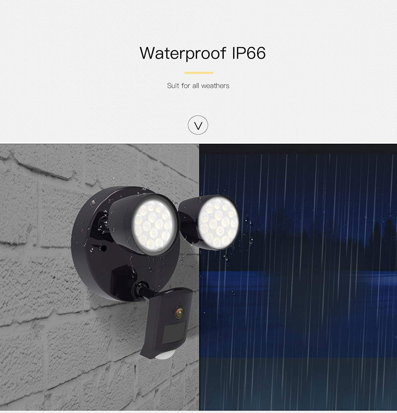 Vstarcam FC2 Outdoor HD 1080P WIFI Two Piece LED Floodlight IP66 Waterproof IP CCTV Camera