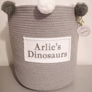 Personalised Pom Basket (pink)